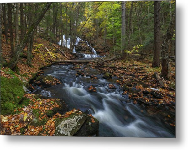 Metal Print featuring the photograph Old Wilton Falls by Juergen Roth