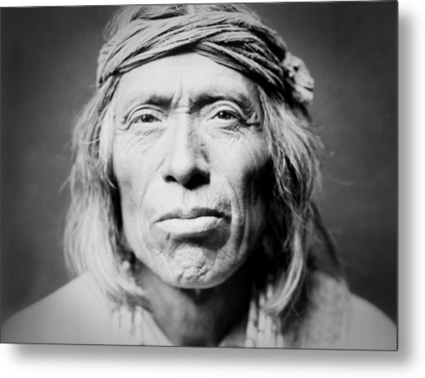Old Zuni Man Circa 1903 Metal Print