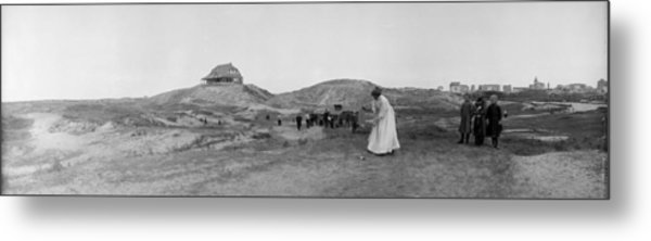 On Golf Links Metal Print by Alfred Hind Robinson