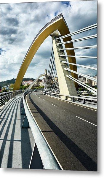 Millennium Bridge In Ourense, Spain Metal Print