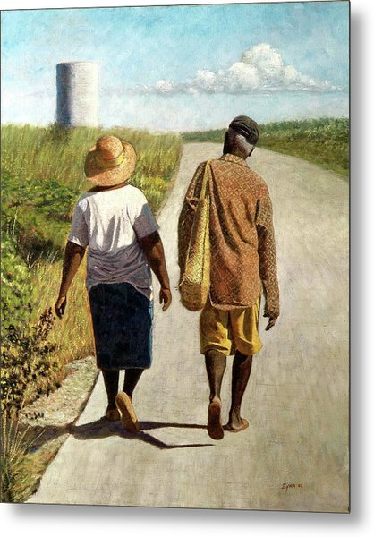On The Road To Hatchet Bay Metal Print