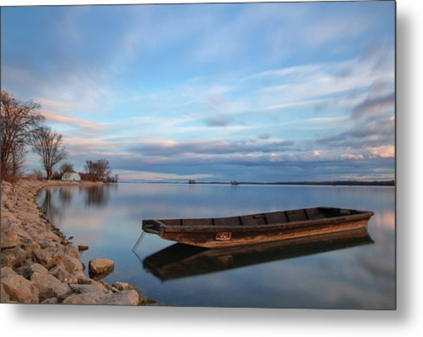 On The Shore Of The Lake Metal Print