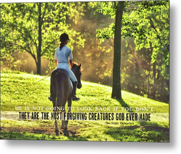 On The Showgrounds Quote Metal Print by JAMART Photography