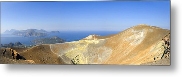 On The Top Of Volcano Metal Print by Maremagnum