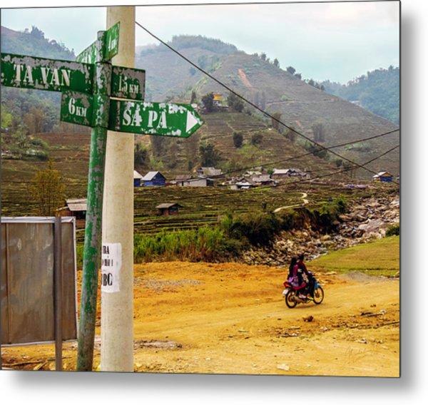 On The Way To Sapa, Vietnam Metal Print