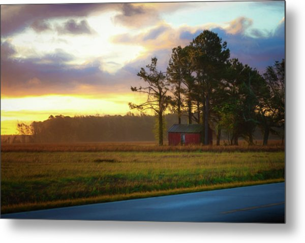 Onc Open Road Sunrise Metal Print