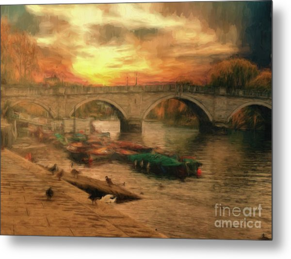 Once More To The Bridge Dear Friends Metal Print