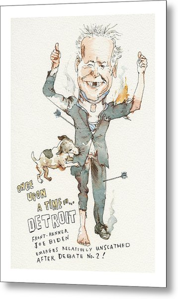 Once Upon A Time . . . In Detroit Metal Print by Barry Blitt