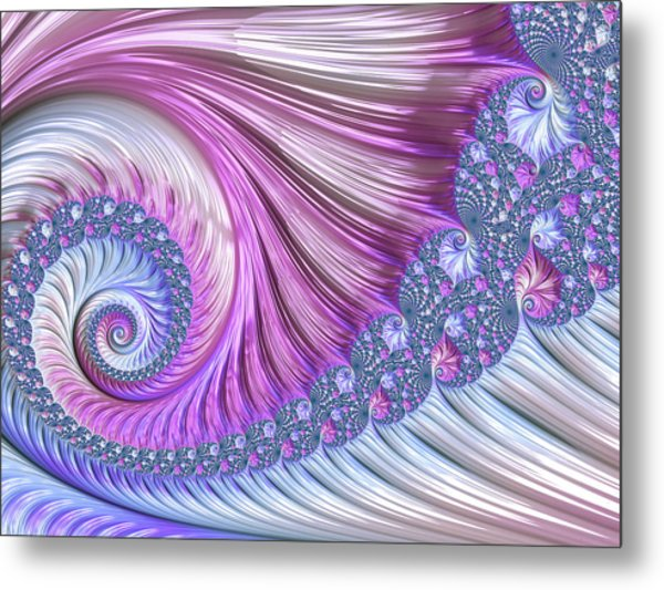 Opal Nautilus Metal Print
