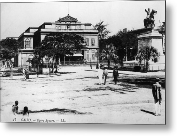 Opera Square Metal Print by Hulton Archive