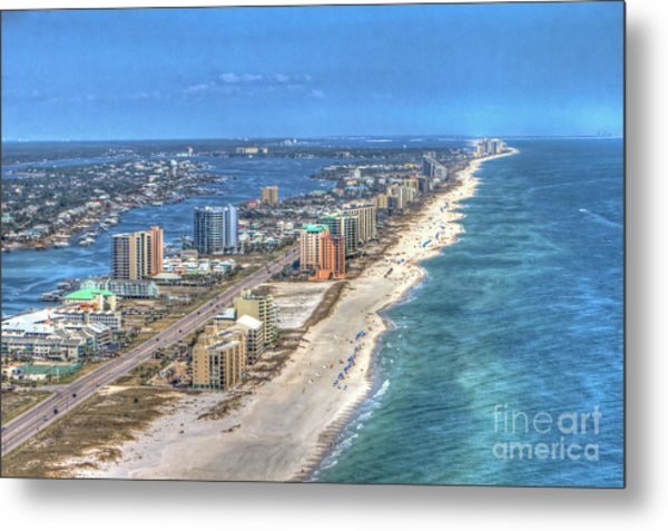 Orange Beach East Metal Print