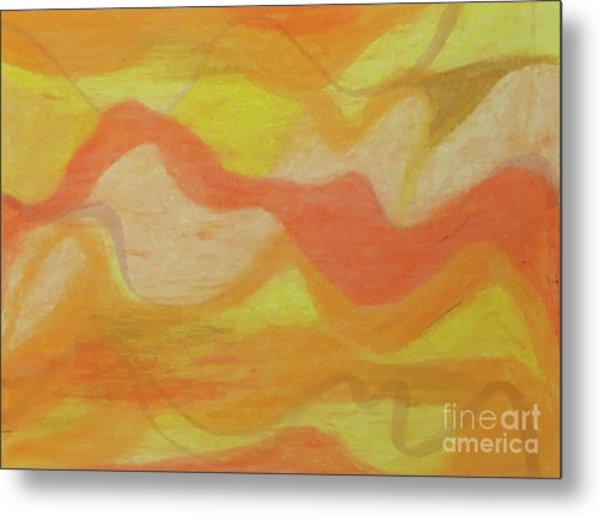 Orange Colors 1 Metal Print