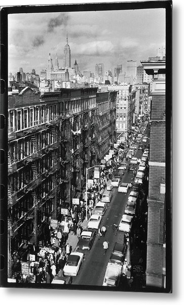 Orchard Street, 1963 Metal Print by Fred W. McDarrah