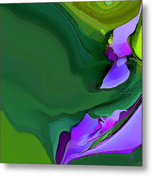Orchids And Emeralds Metal Print