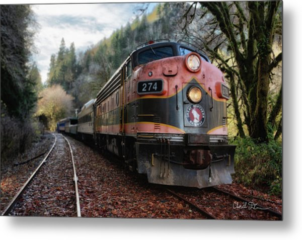 Oregon Coast Railroad Metal Print
