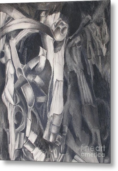 Metal Print featuring the drawing Organic Jungle by Rosanne Licciardi