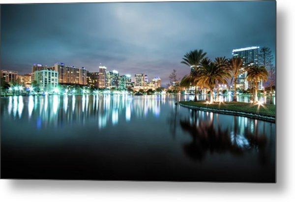 Orlando Night Cityscape Metal Print