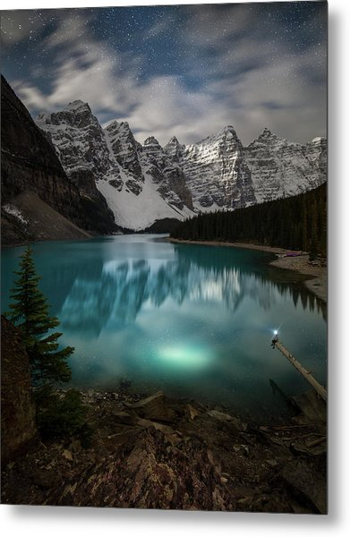Metal Print featuring the photograph Otherworldly / Moraine Lake, Alberta, Canada by Nicholas Parker