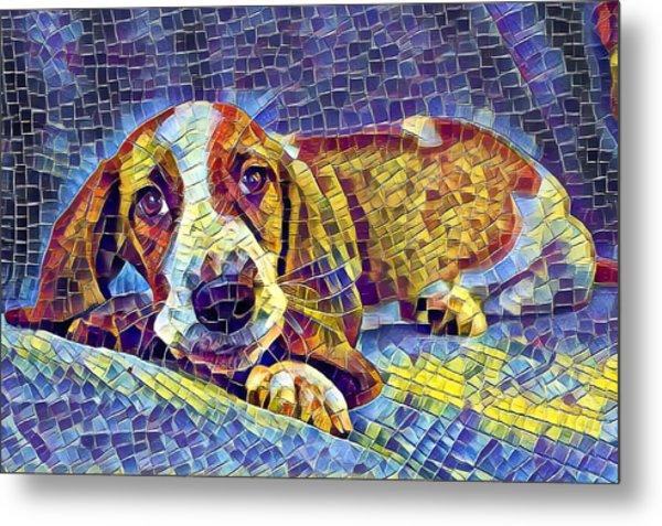 Otis The Potus Basset Hound Dog Art  Metal Print