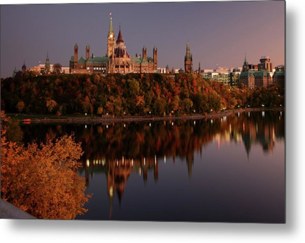 Ottawa At Dusk Metal Print