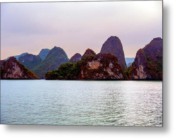 Out To Sea - Halong Bay, Vietnam Metal Print