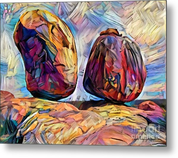 Outback Devils Marbles Metal Print by Chris Armytage