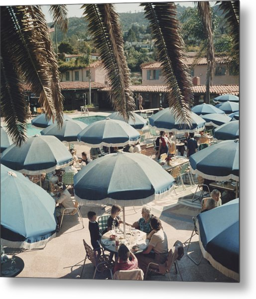 Outdoor Dining Metal Print by Slim Aarons