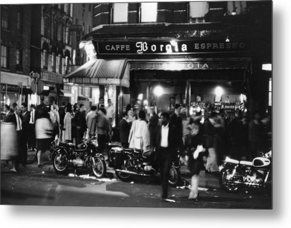Outside Caffe Borgia Metal Print