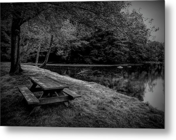 Overlooking The Sugar River Metal Print