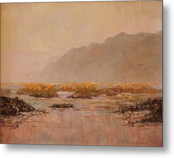 Oyster Beds Emerging Metal Print