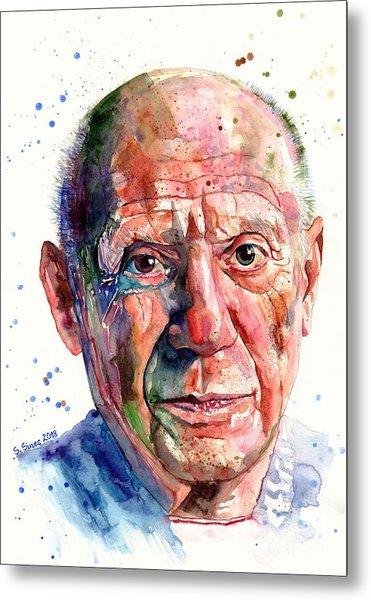 Pablo Picasso Portrait Metal Print