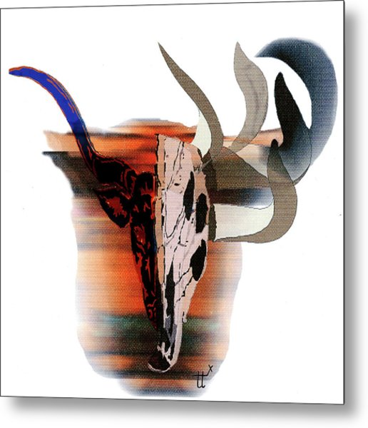 Pablo's Cow Metal Print