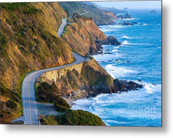 Pacific Coast Highway Highway 1 At Metal Print