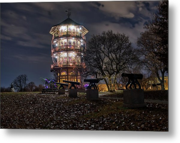 Metal Print featuring the photograph Pagoda And The Canons by Mark Dodd