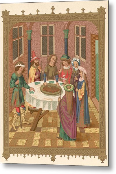 Painting Of Jewish Passover Seder Metal Print by Kean Collection