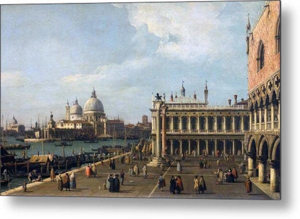 Painting Titled  Santa Maria Della Metal Print