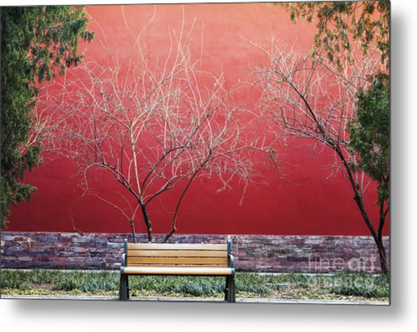 Palace Walls,the Forbidden City In Metal Print