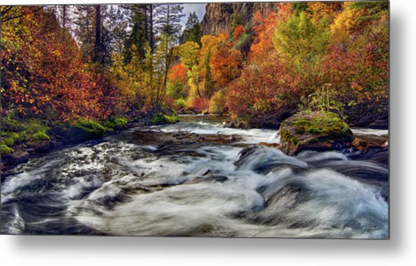 Palisades Creek Autumn Light Metal Print by Leland D Howard