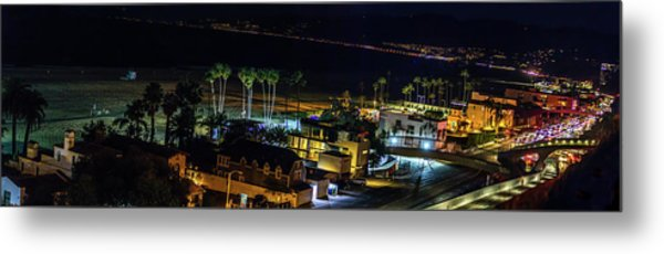 Palisades Park Night - Panorama Metal Print