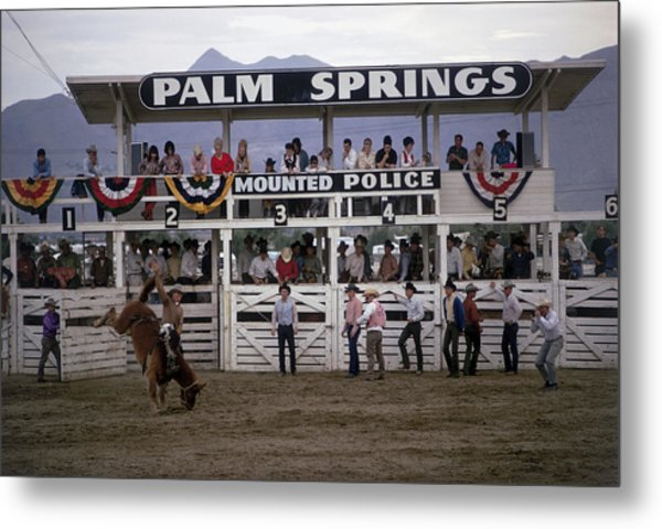 Palm Springs Rodeo Metal Print