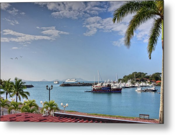 Metal Print featuring the photograph Panama Canal Viewed From Amador Peninsula by Tatiana Travelways