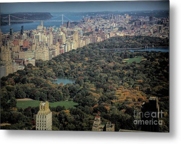 Panorama Central Park Nyc  Metal Print