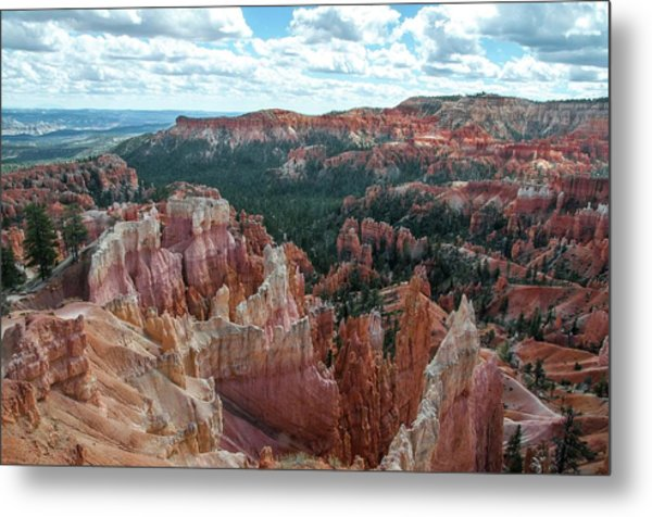 Panorama  From The Rim, Bryce Canyon  Metal Print