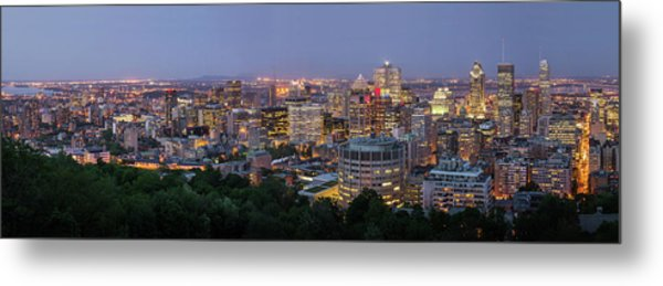 Panorama Of Montreal Skyline Metal Print by Wichan Yingyongsomsawas