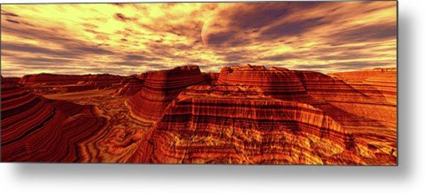 Panoramic View. Lost Valley. Digitally Metal Print