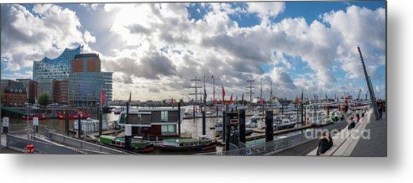 Panoramic View Of Hamburg Metal Print