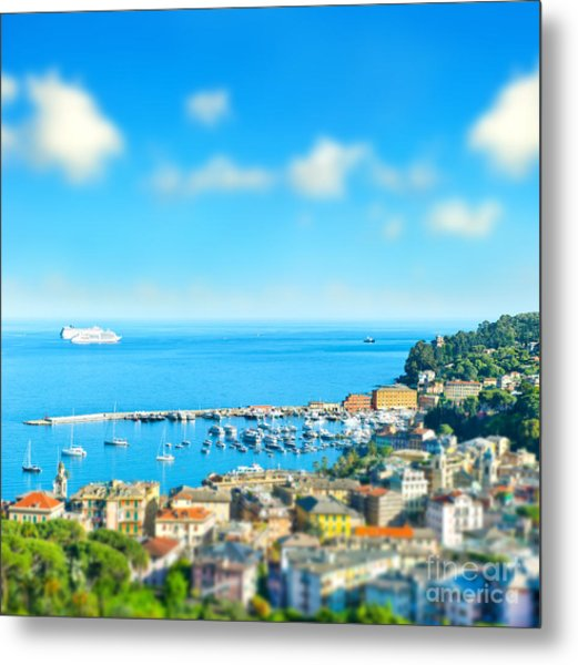Panoramic View  With Tilt-shift Effect Metal Print by Liligraphie