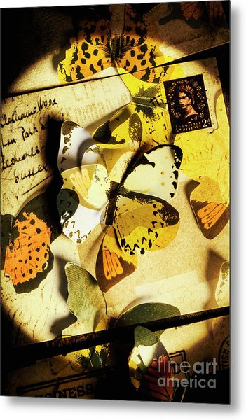 Paper Wings And Inked Out Notes Metal Print