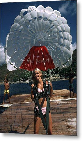 Paraglider Metal Print by Slim Aarons