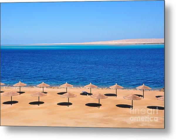 Parasols At Red Sea,hurghada Metal Print